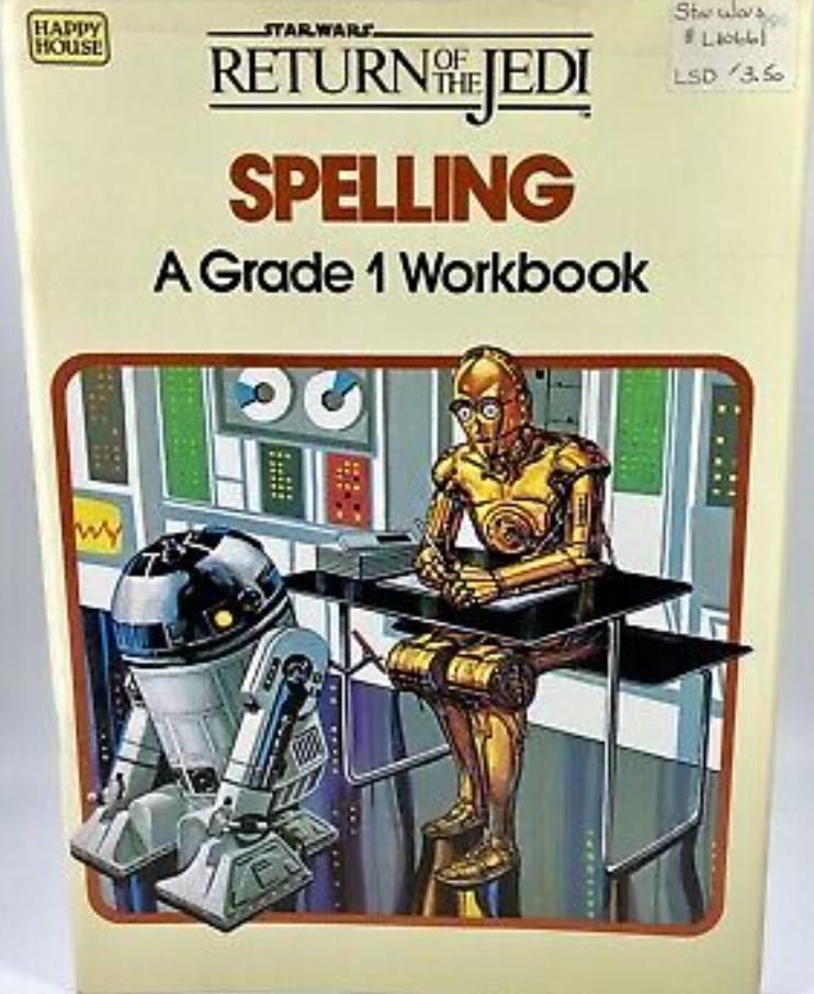 Star Wars Return of the Jedi: Spelling - A Grade 1 Workbook