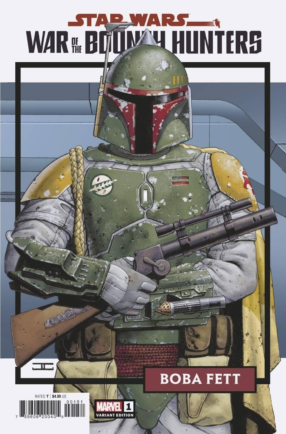 Star Wars: War of the Bounty Hunters 1 - Trading Card Variant (Cassaday)