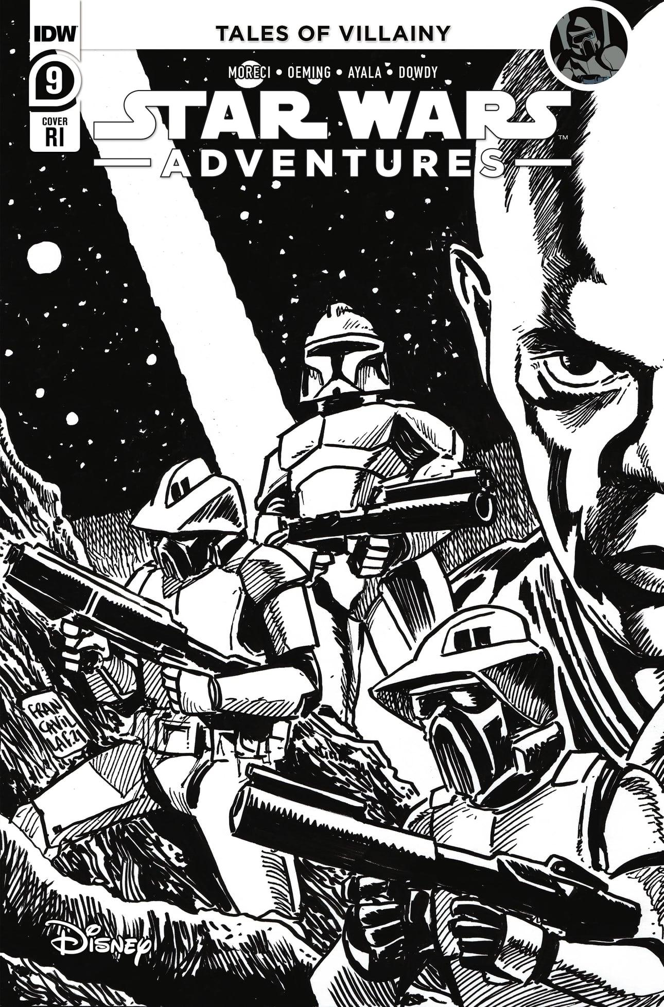 Star Wars Adventures 9 (IDW 2020) RI Cover Francavilla