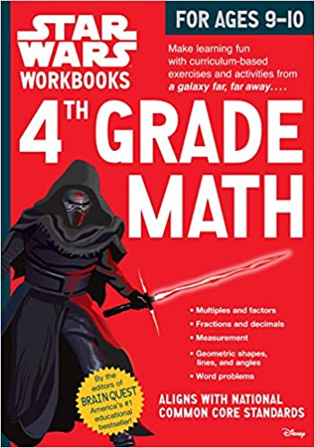 Star Wars Workbooks: 4th Grade Math