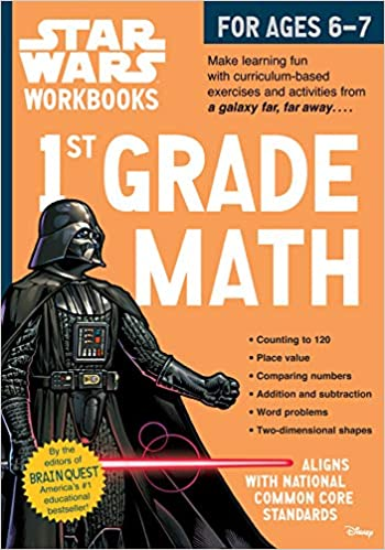 Star Wars Workbooks: 1st Grade Math