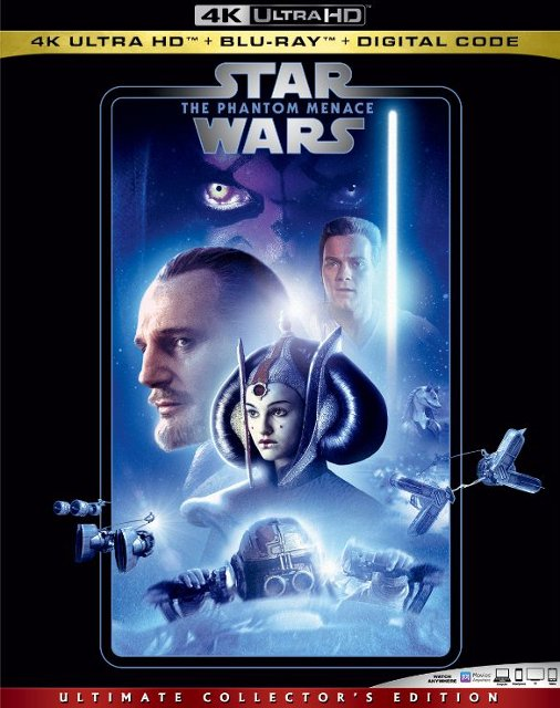 Star Wars: The Phantom Menace (4K Blu Ray)