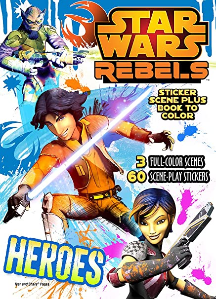 Star Wars Rebels Sticker Scene and Book to Color
