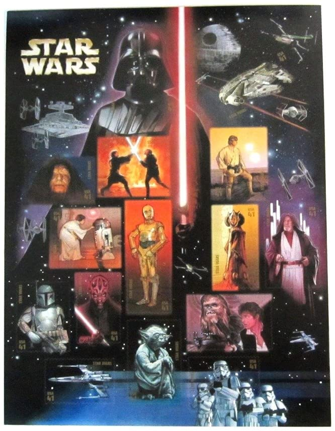 Star Wars Stamps One-Sheet