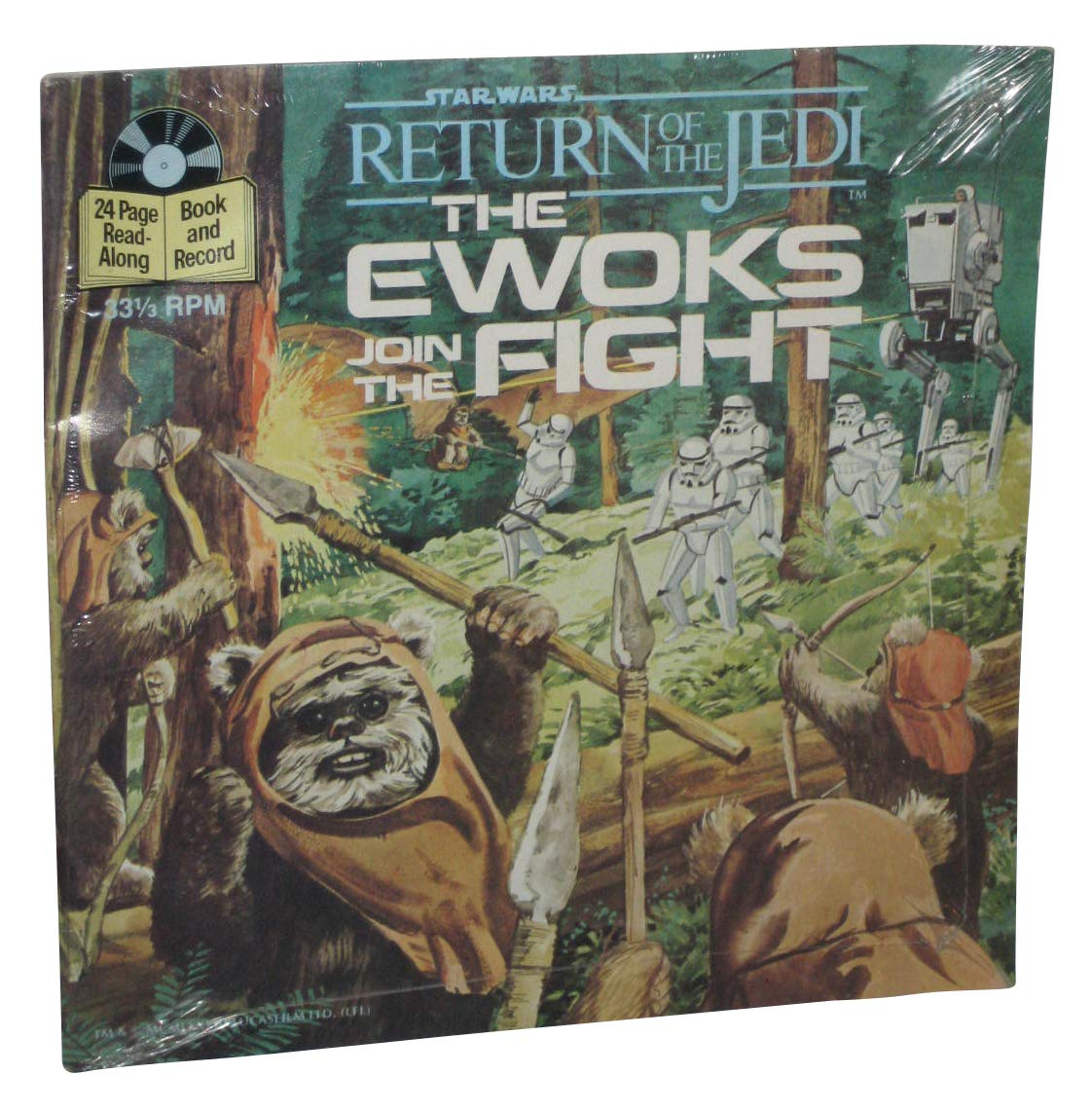 Star Wars Return of the Jedi: The Ewoks Join the Fight (Book & Record)