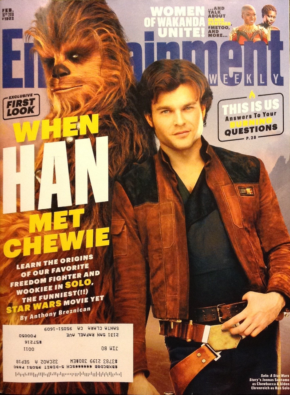 Entertainment Weekly February 16, 2018