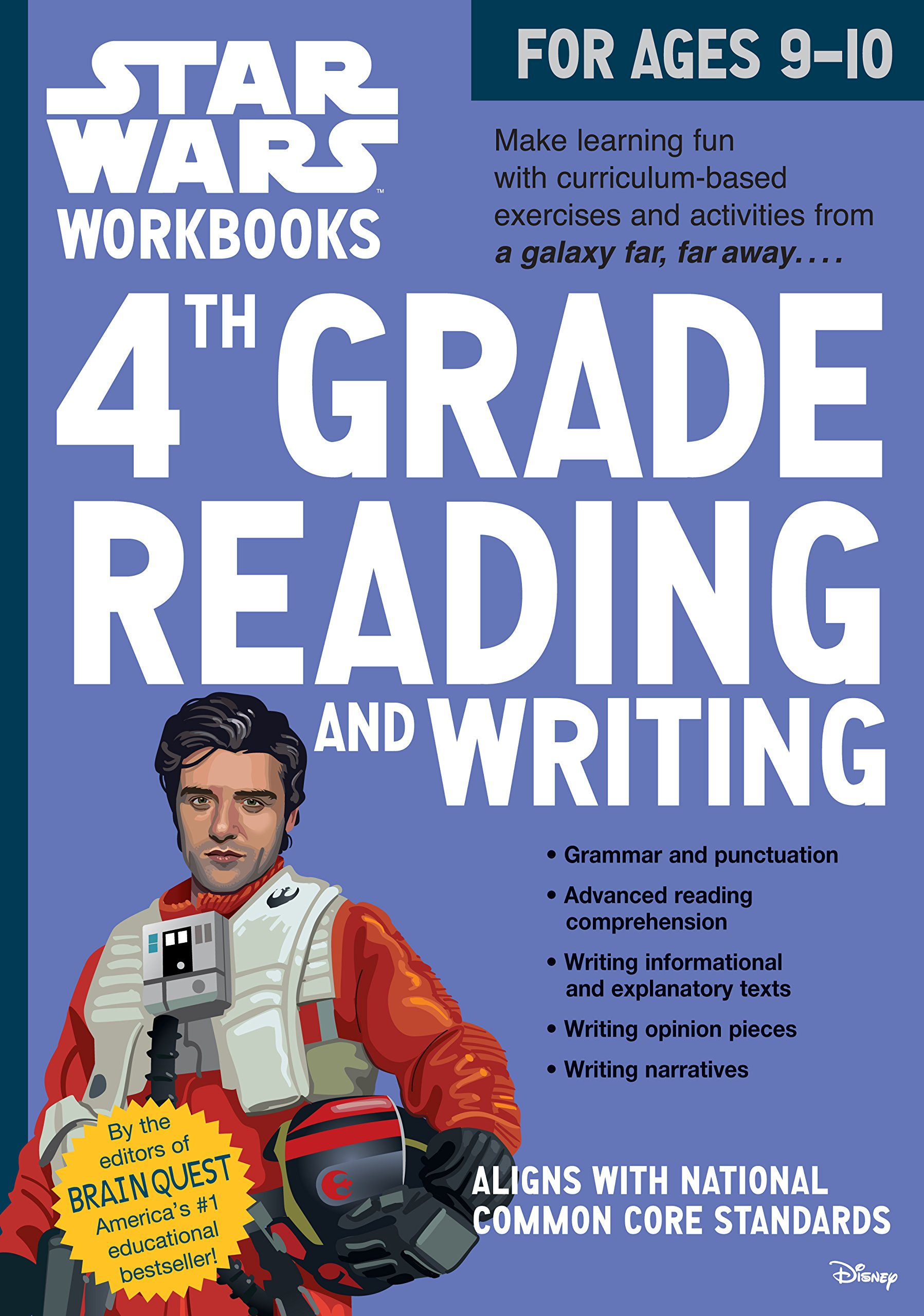 Star Wars Workbooks: 4th Grade Reading and Writing