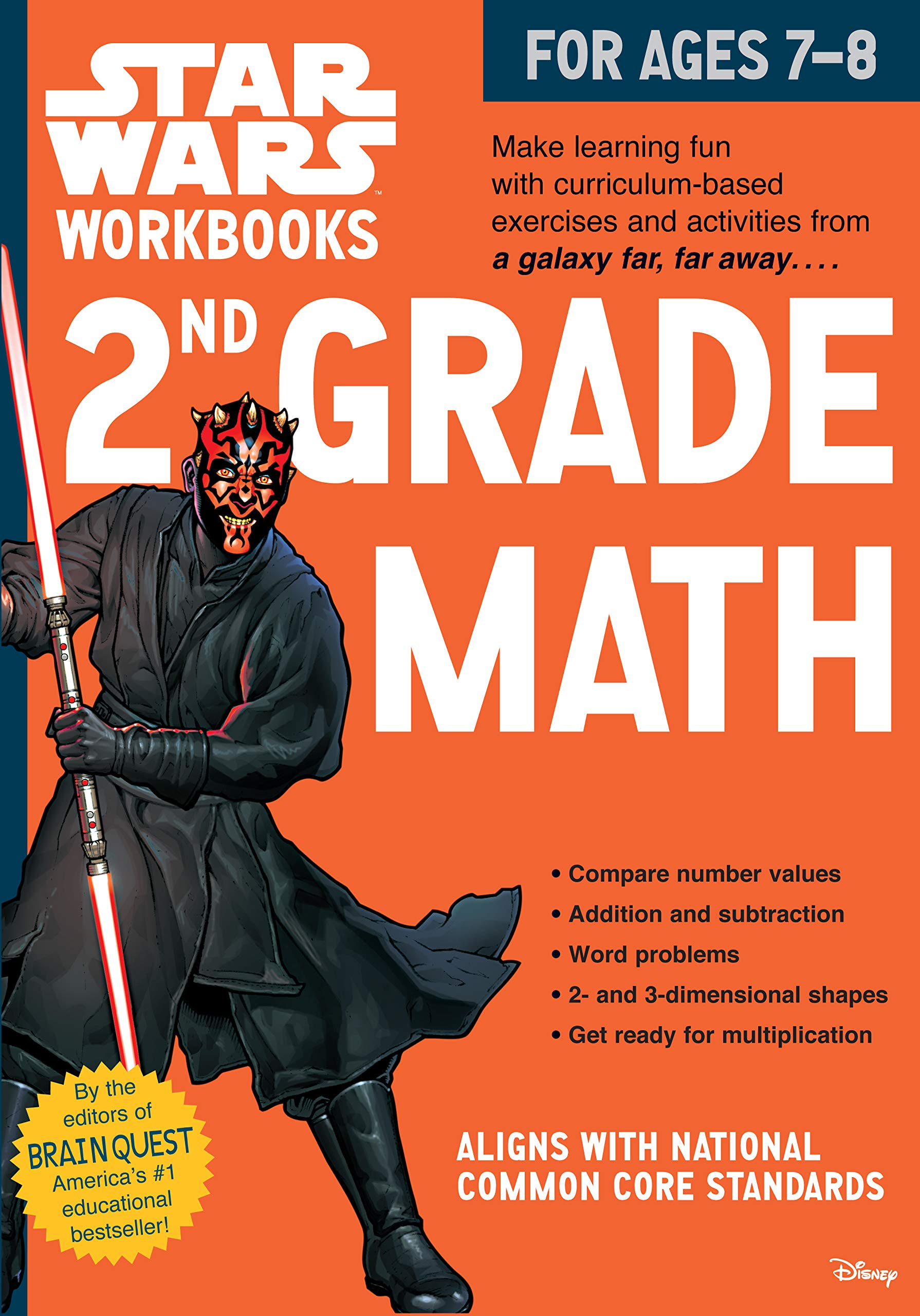 Star Wars Workbooks: 2nd Grade Math