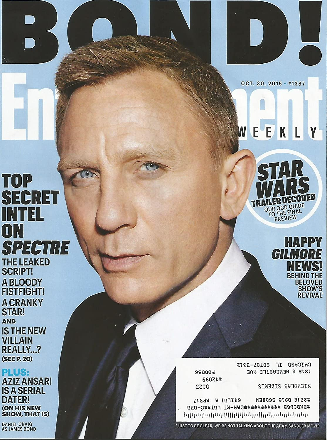 Entertainment Weekly October 30, 2015