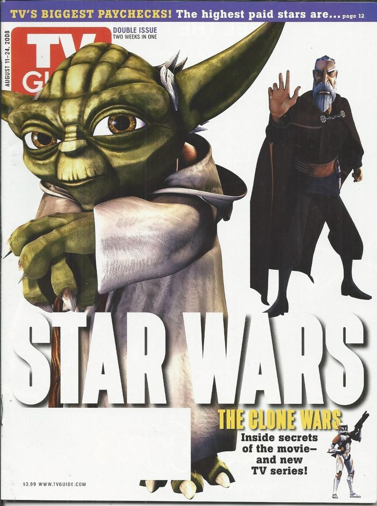 TV Guide August 11-24, 2012 (Yoda/Dooku)
