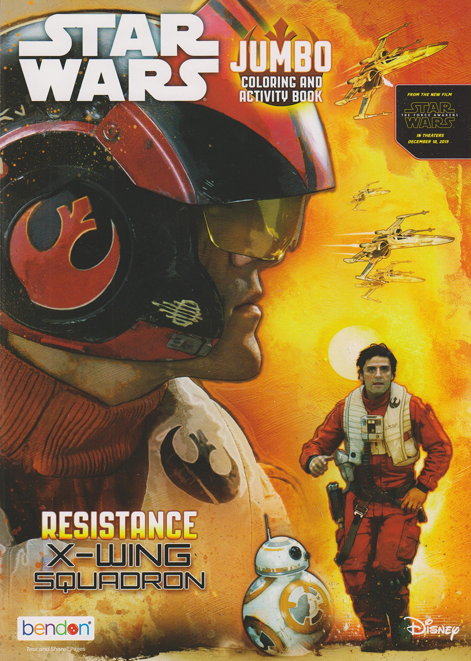 Star Wars Jumbo Coloring & Activity Book: Resistance - X-Wing Squadron