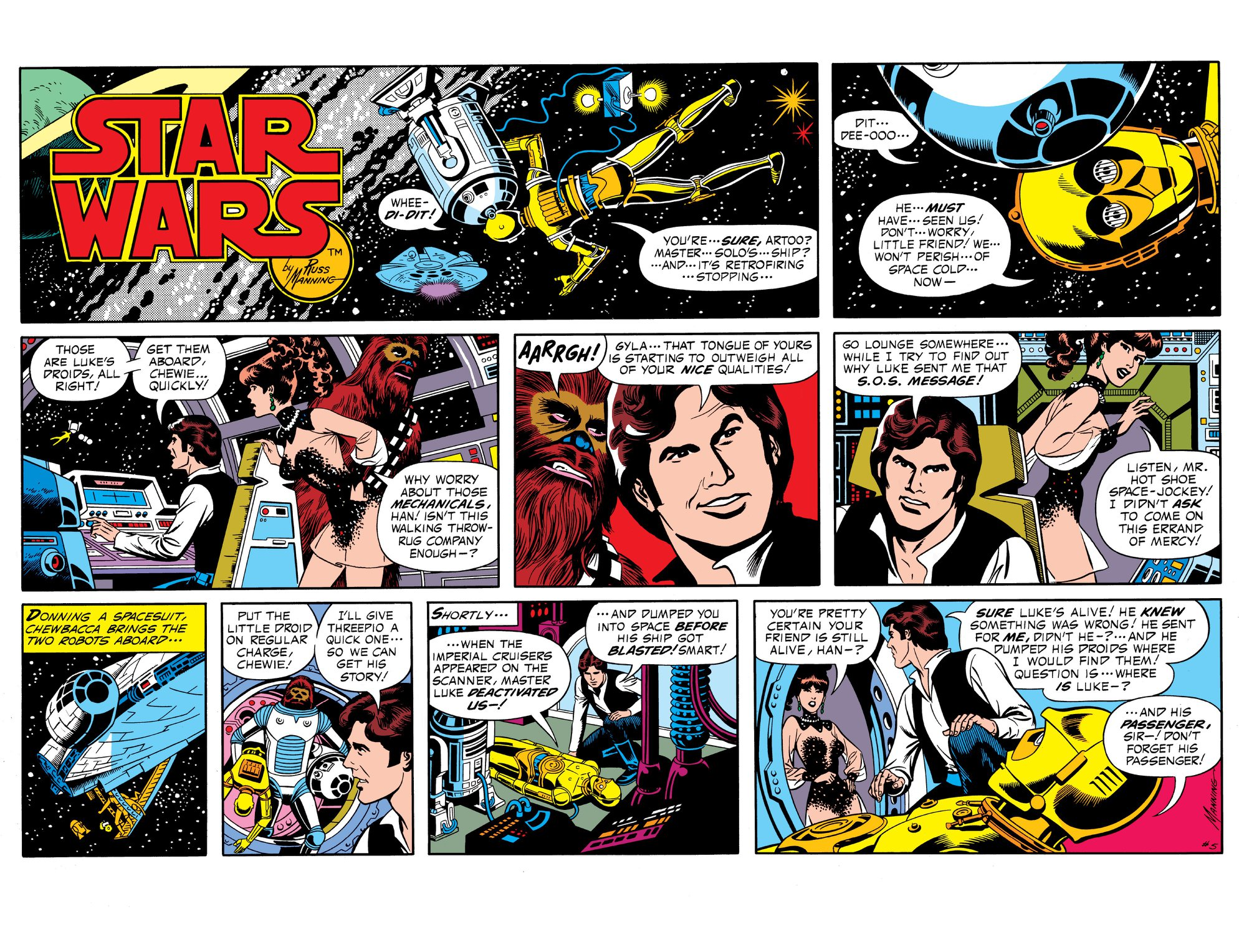 Star Wars LA Times Comic April 08, 1979