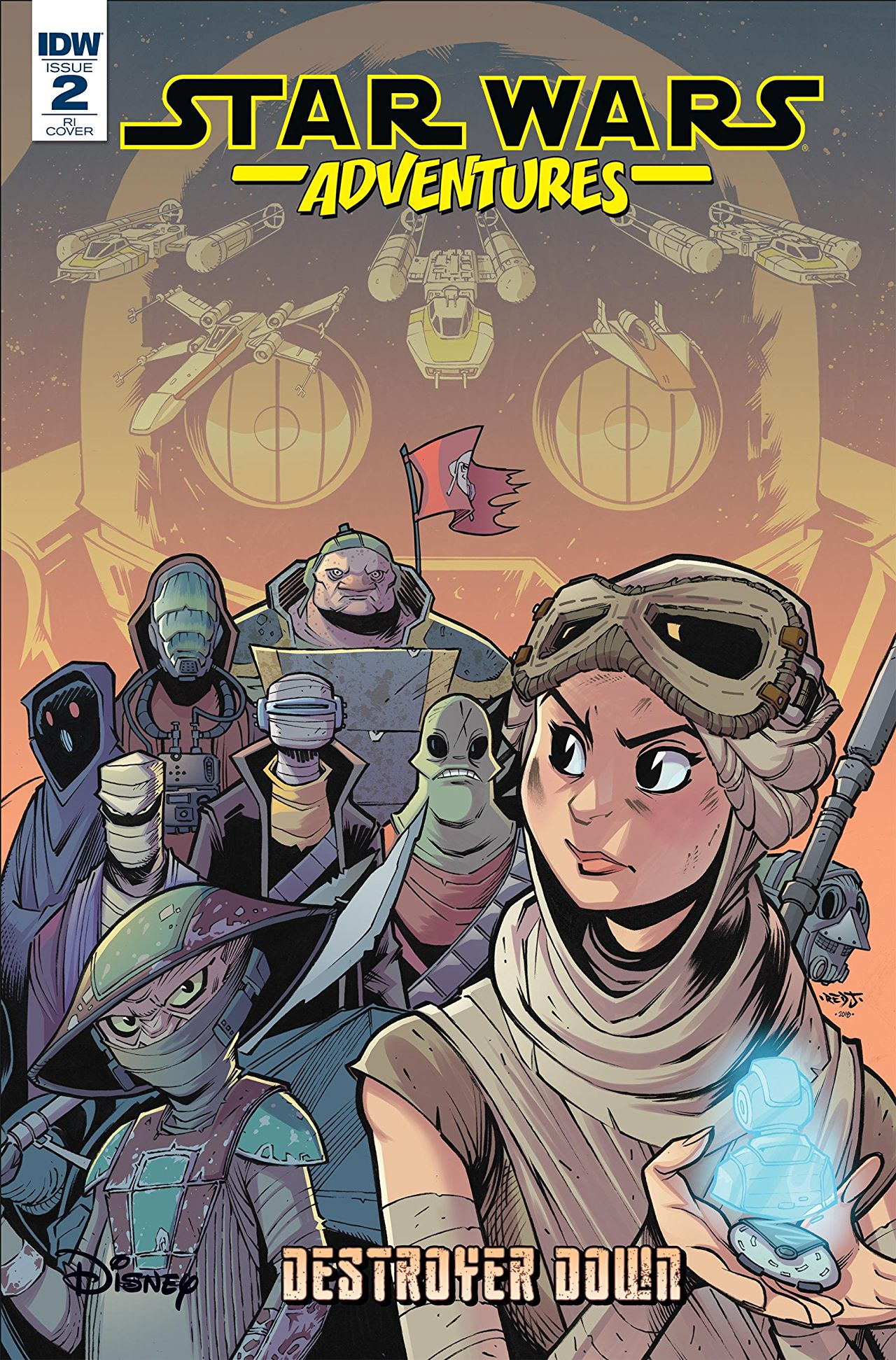 Star Wars Adventures: Destroyer Down 2 - Retail Incentive Cover (Jon Sommariva)