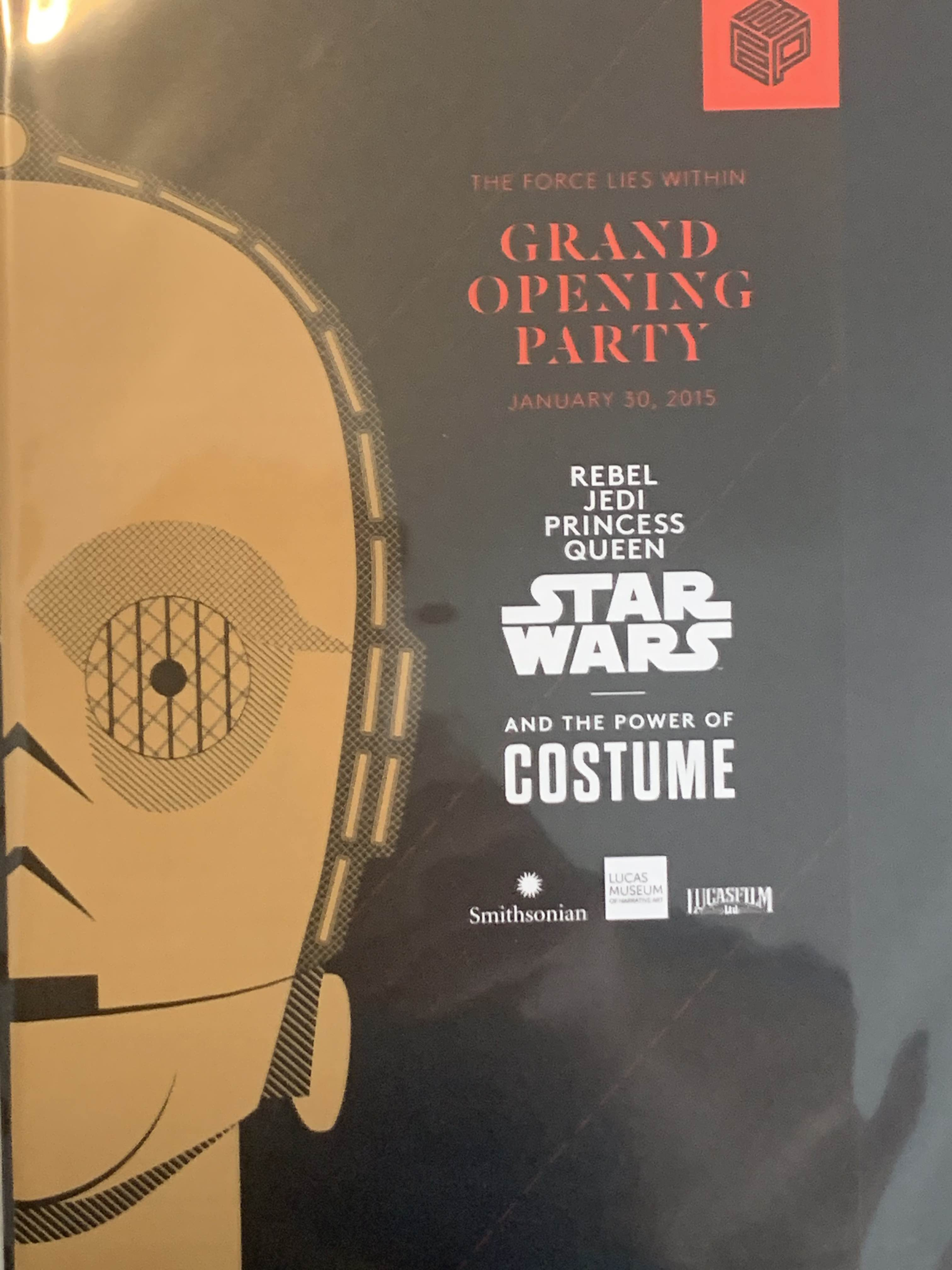 Star Wars and the Power of Costume Grand Opening Party