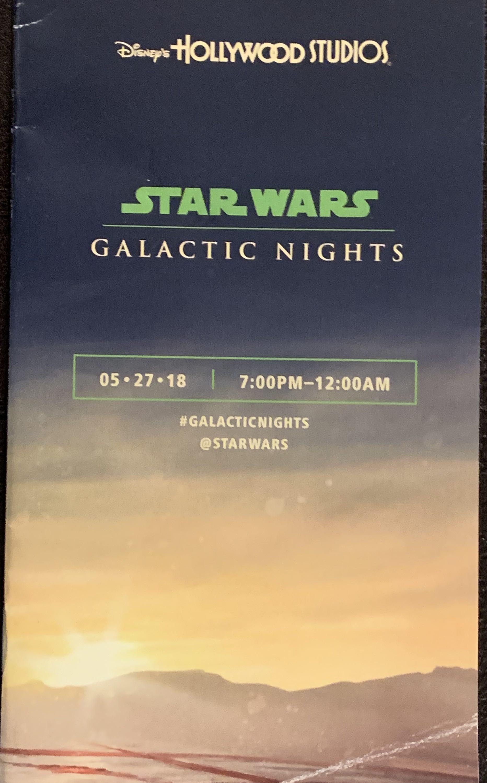 Star Wars Galactic Nights Orlando 2017 Mission Objectives