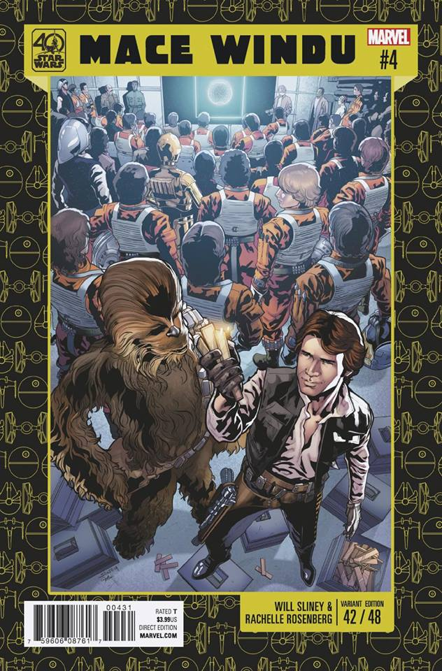 Star Wars Mace Windu - Jedi of the Republic 4 - 40th Anniversary Variant (Will Sliney and Rachelle Rosenberg)
