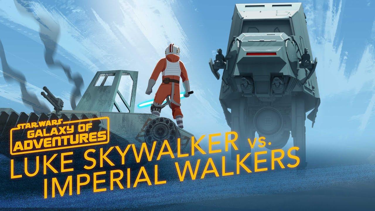 Star Wars Galaxy of Adventures: Luke vs. Imperial Walkers - Commander on Hoth