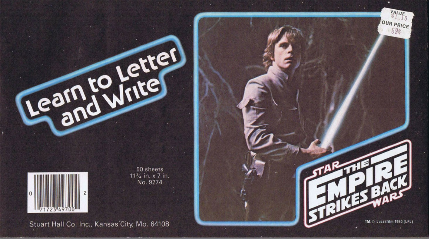 Star Wars The Empire Strikes Back: Learn to Letter and Write
