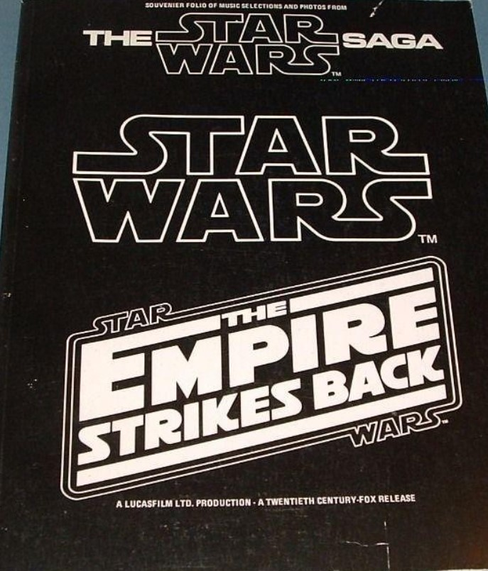 Souvenir Folio of Music Selections and Photos from the Star Wars Saga