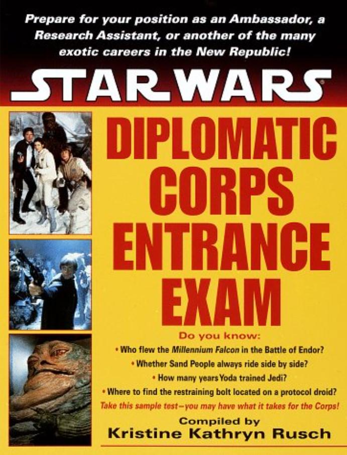 Star Wars Diplomatic Corps Entrance Exam