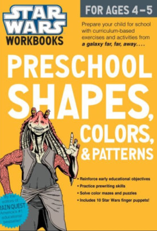 Star Wars Workbooks: Preschool Shapes, Colors, and Patterns