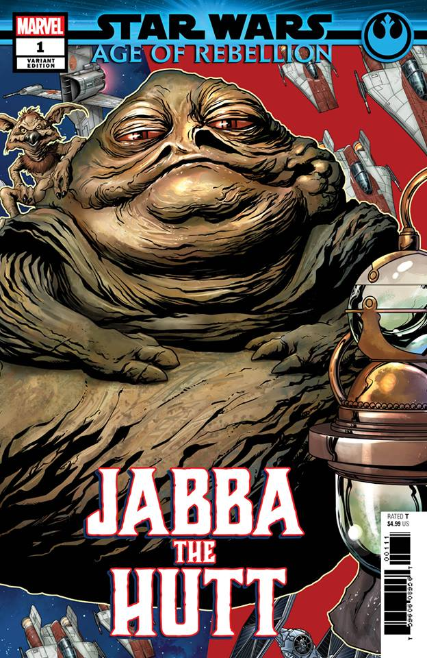 Star Wars Age of Rebellion: Jabba the Hutt - Puzzle Piece Variant (Mike McKone)