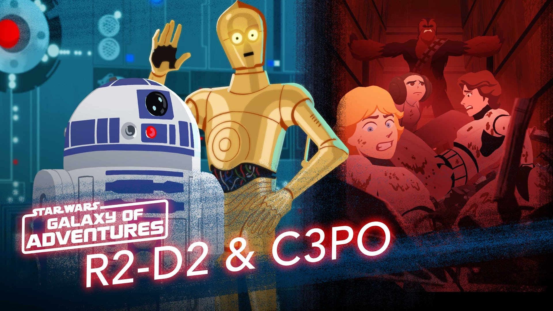 Star Wars Galaxy of Adventures: R2-D2 and C-3PO - Trash Compactor Rescue