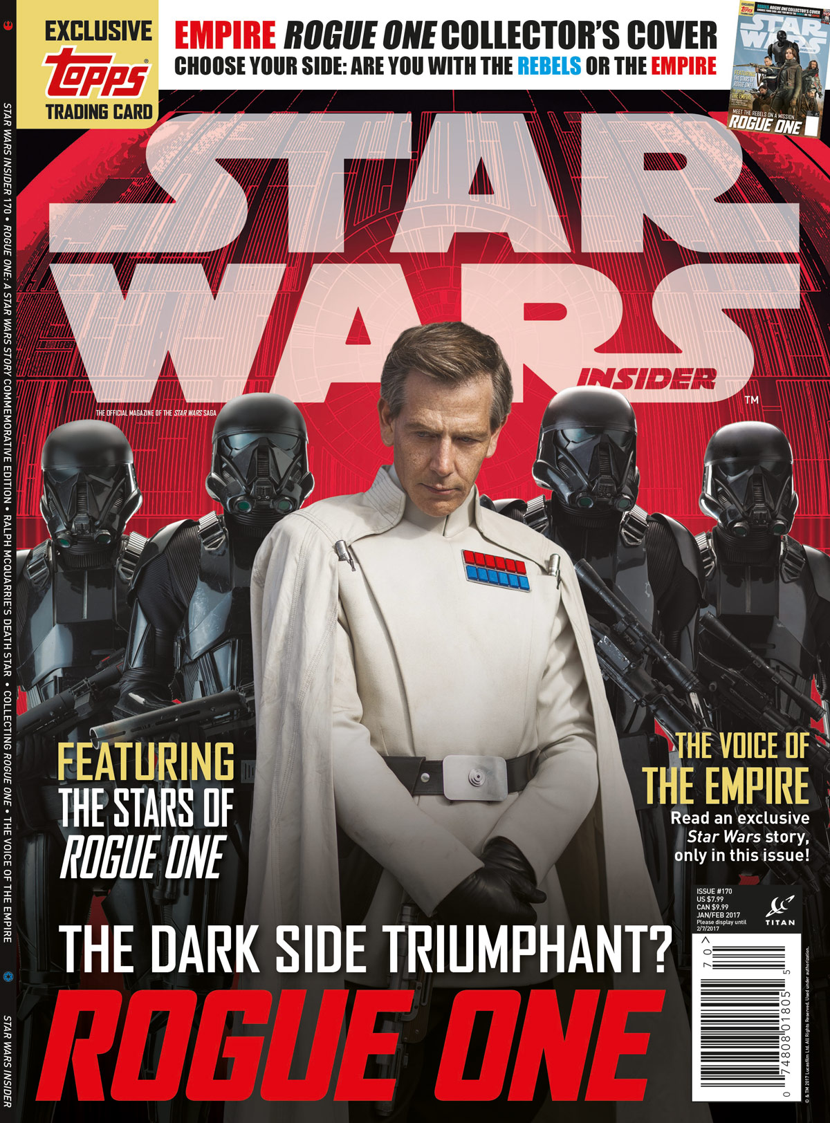 Star Wars Insider 170 - Empire Newstand Cover