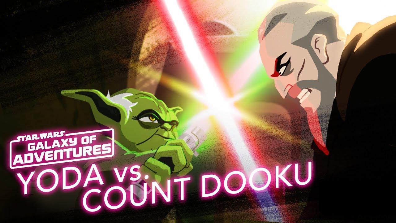 Star Wars Galaxy of Adventures: Yoda vs. Count Dooku - Size Matters Not