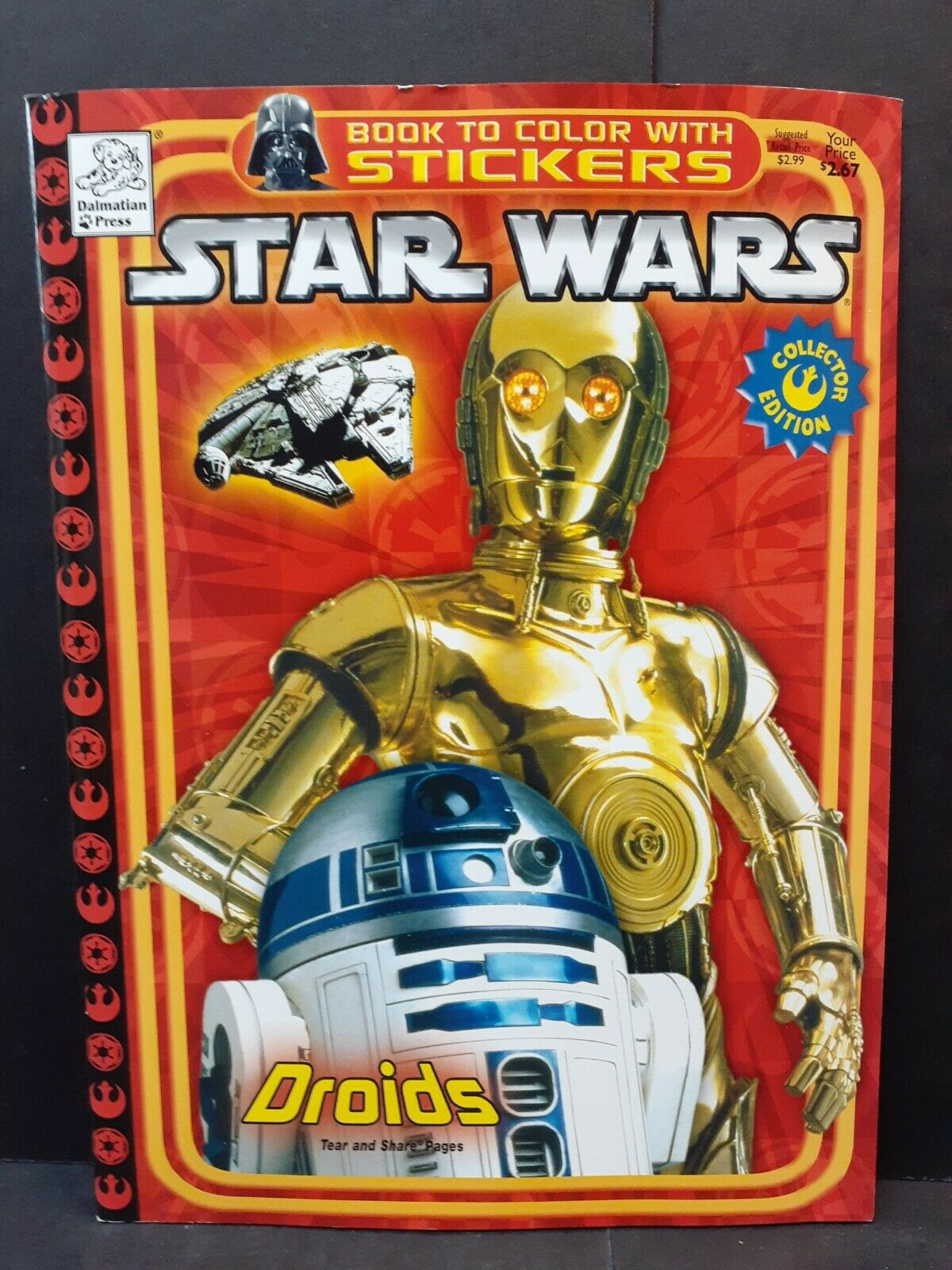 Star Wars Book to Color with Stickers (Droids)