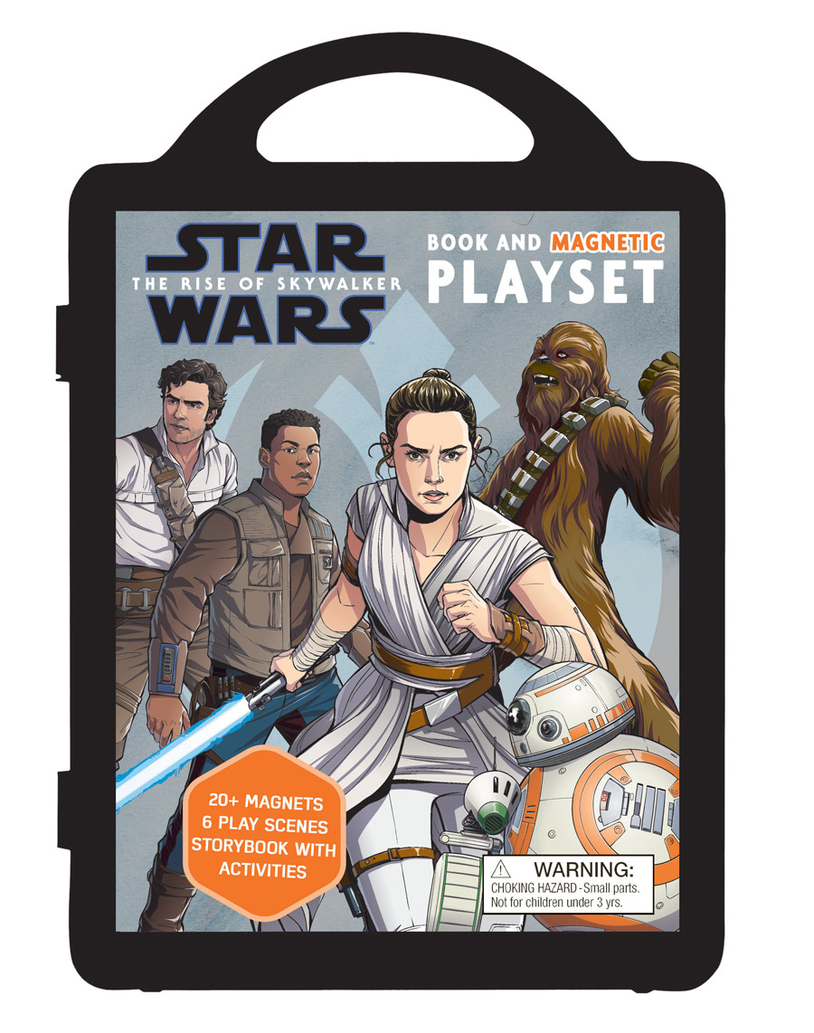 Star Wars The Rise of Skywalker Book and Magnetic Playset
