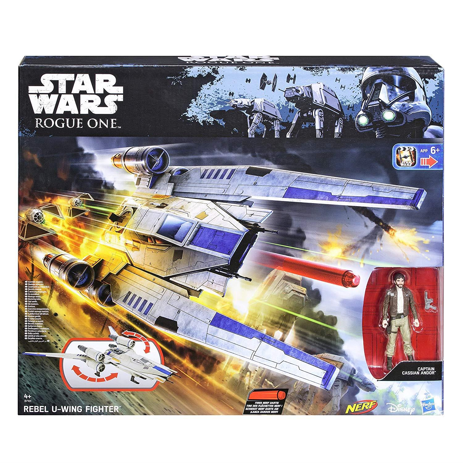 Rebel U-Wing Fighter with Cassian Andor -