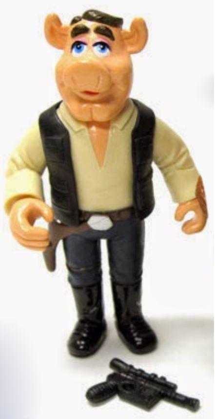 Link Hogthrob as Han Solo | Fozzie Bear and Link Hogthrob as Chewbacca and Han Solo