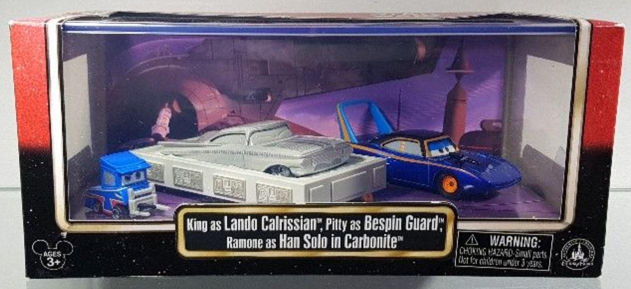 King as Lando and Ramon as Han in Carbonite