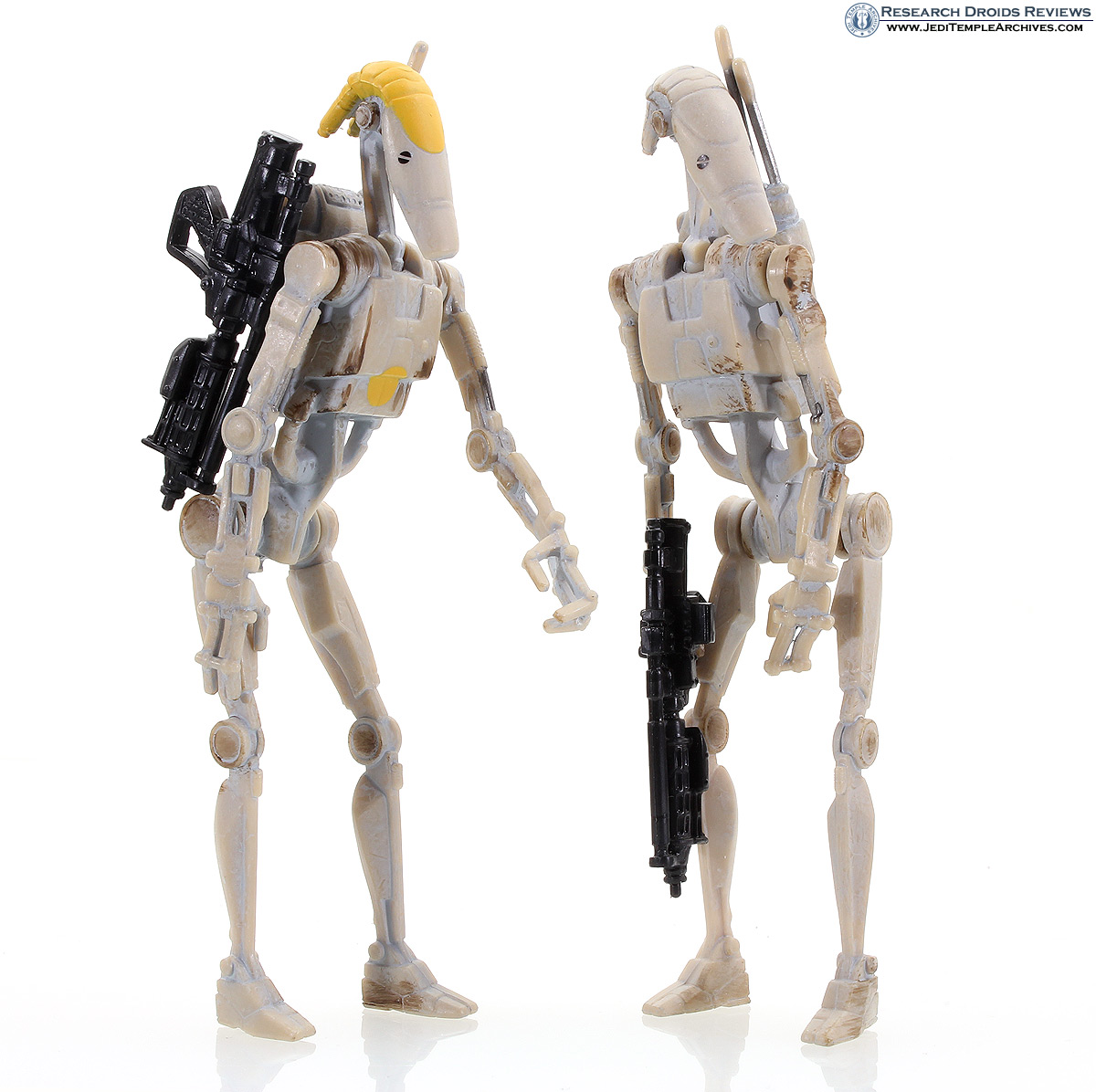 Battle Droids (tan infantry and commander) -