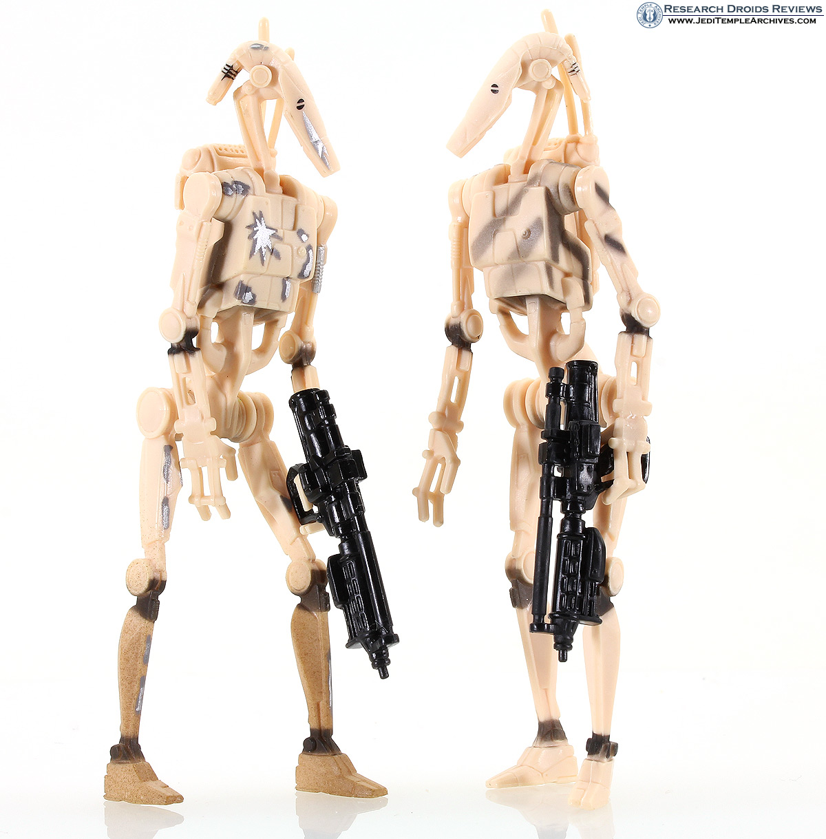 Battle Droids (tan blaster and lightsaber damage) -