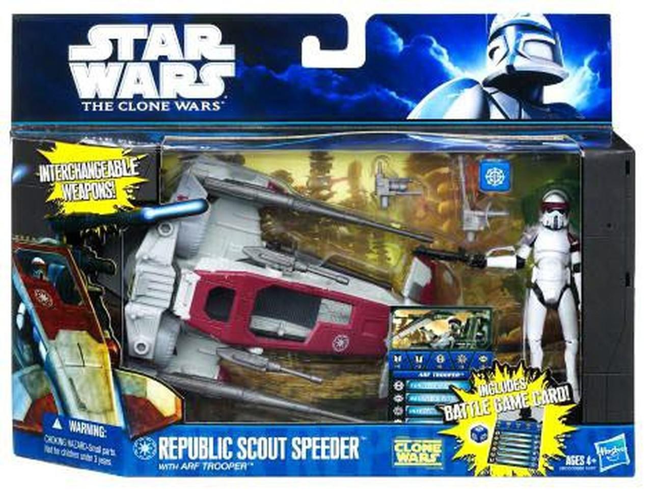 Republic Scout Speeder with ARF Trooper -