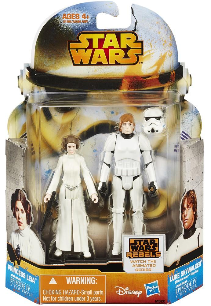 Princess Leia and Luke Skywalker Stormtrooper Disguise -