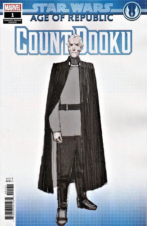 Star Wars Age of Republic: Count Dooku - Concept Design Cover (Dermot Power)