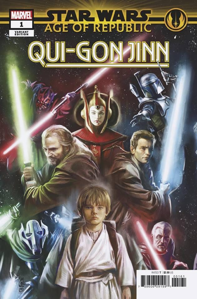 Star Wars Age of Republic: Qui-Gon Jinn - Promo Variant (Giuseppe Camuncoli & Elia Bonetti)