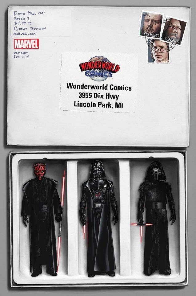Star Wars Darth Maul 1 - Wonderworld Comics Variant (John Tyler Christopher)