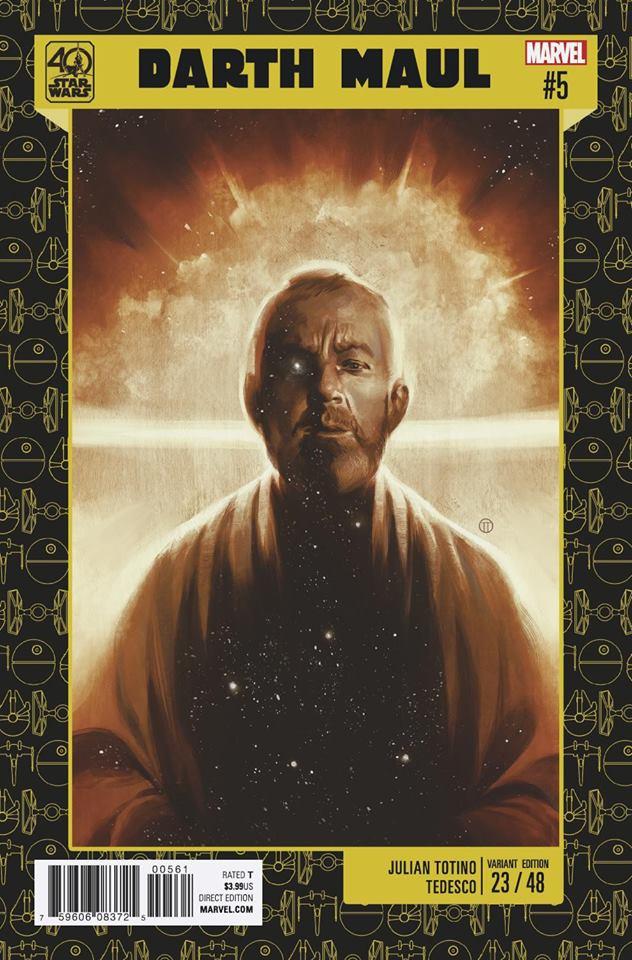 Star Wars Darth Maul 5 (Marvel) - 40th Anniverary Variant (Julian Totino)