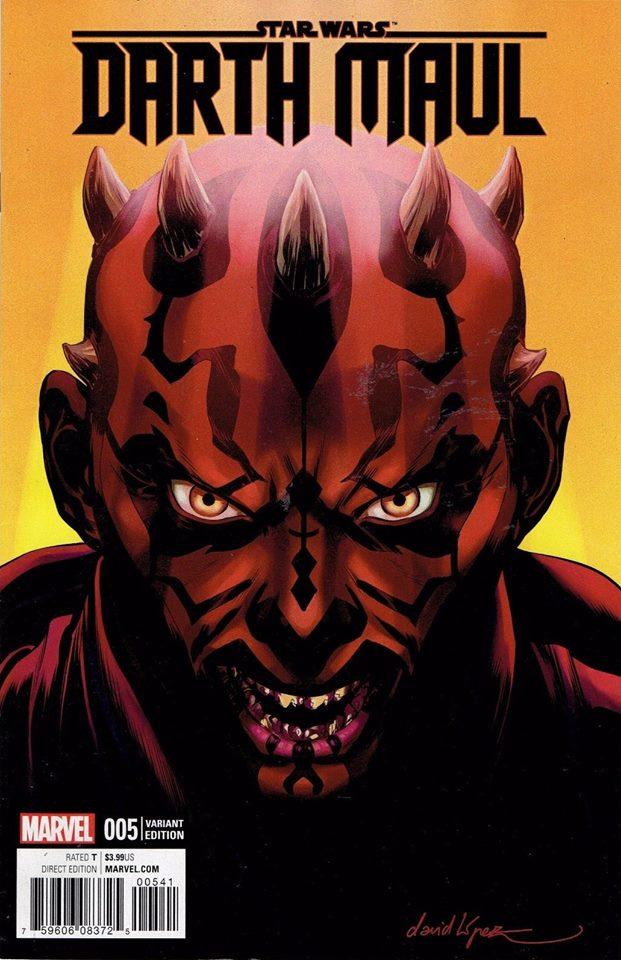 Star Wars Darth Maul 5 (Marvel) - David Lopez Variant