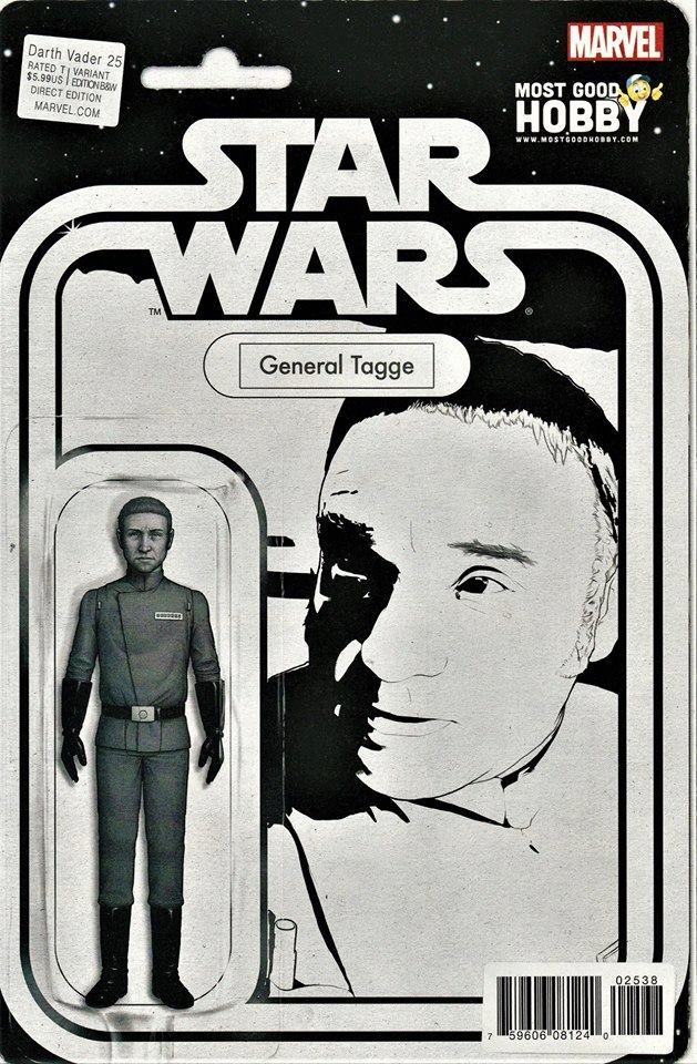 Star Wars Darth Vader 25 -Action Figure B&W Variant - General Tagge