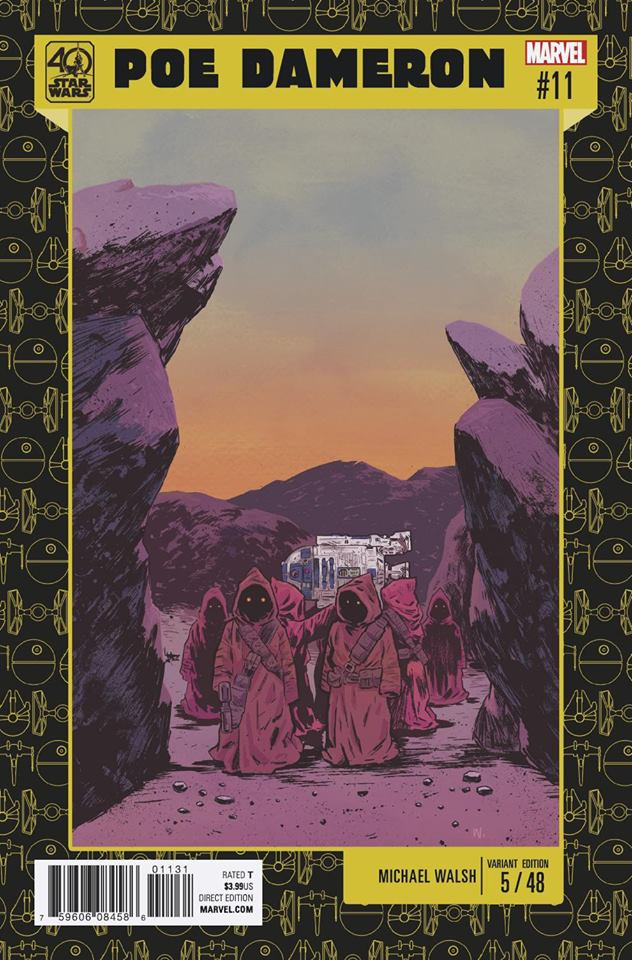 Star Wars Poe Dameron 11 - 40th Anniversary Variant (Michael Walsh)