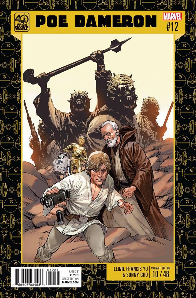 Star Wars Poe Dameron 12 - 40th Anniversary Variant (Lenil Francis Yu)