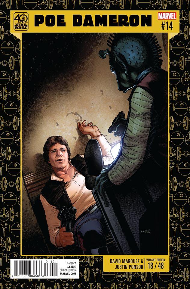 Star Wars Poe Dameron 14 - 40th Anniversary Variant (David Marquez & Justin Ponsor