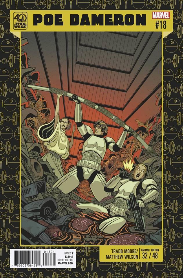 Star Wars Poe Dameron 18 - 40th Anniversary Variant (Tradd Moore & Matthew Wilson)