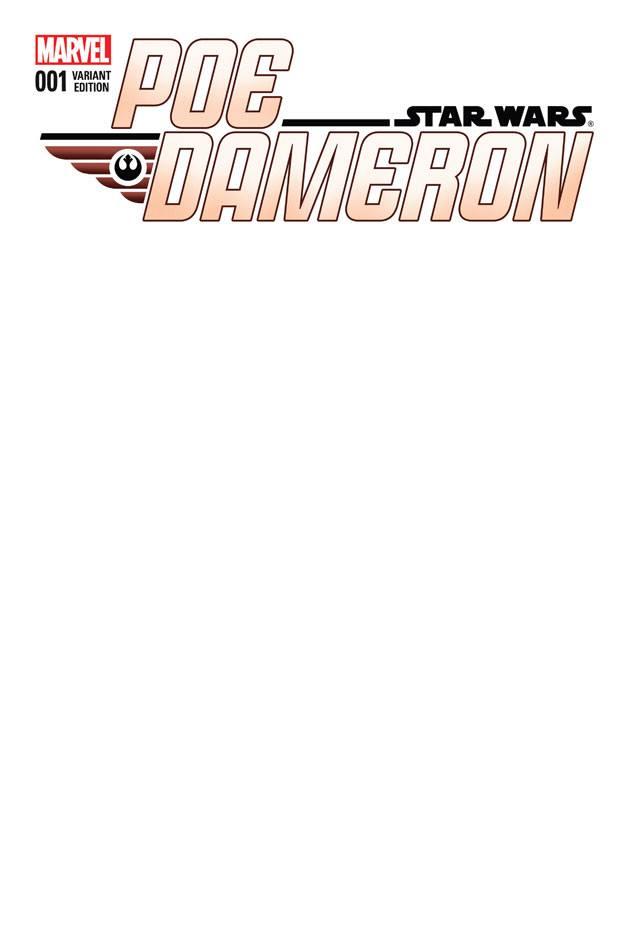 Star Wars Poe Dameron 1 - Blank Variant