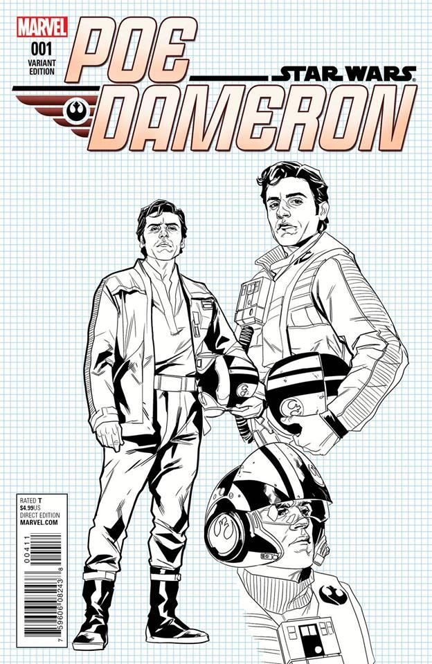 Star Wars Poe Dameron 1 - Grid Paper Variant